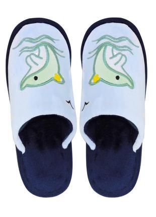 Детские тапочки dolphin голубые
