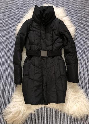 Пуховик пух пальто пузовре натуральное zara оригинал куртка пояс