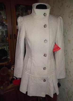 Интересное пальто south uk10 приталенное
