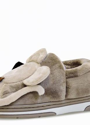 Детские тапочки mouse. коричневые. 14,5 см