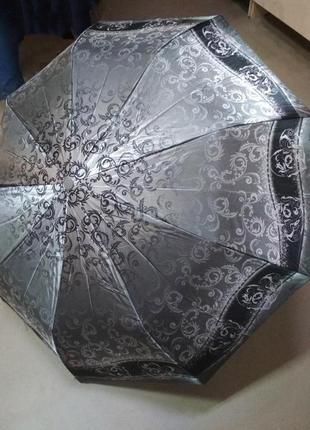 Красивый складной атласный зонт  модные непромокающие зонты