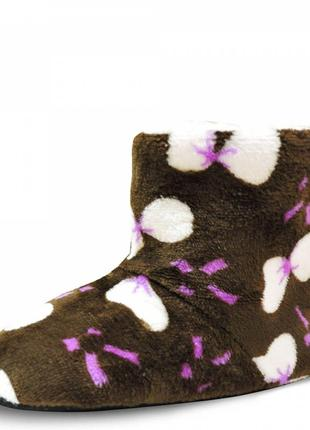 Детские тапочки boots. коричневые. 17 см