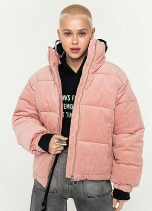 Куртка бархатная,велюровая,в рубчик вельвет,вельветовая,дутик,зефирка