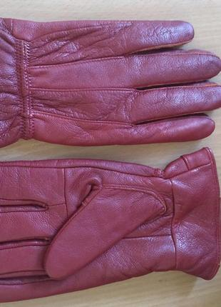 Натуральная кожа, утеплённые перчатки, mark's& spenser