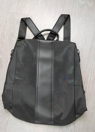 Красивый кюкзак со вставками из кожза