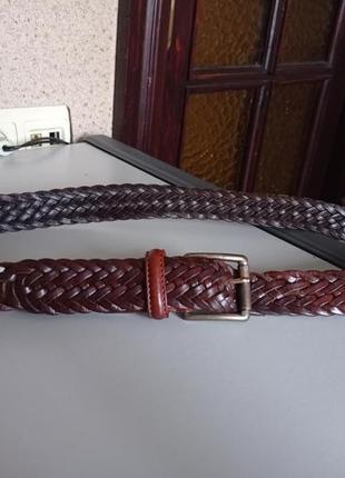 Отличный кожаный плетёный ремень