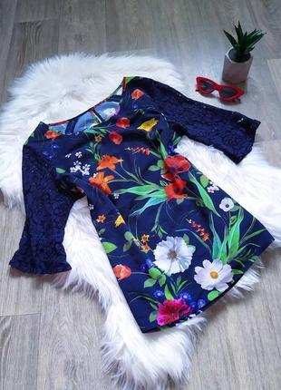 Красивая цветастая блуза 😍