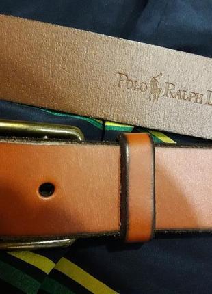 Кожаный ремень коричневого,коньячного цвета
