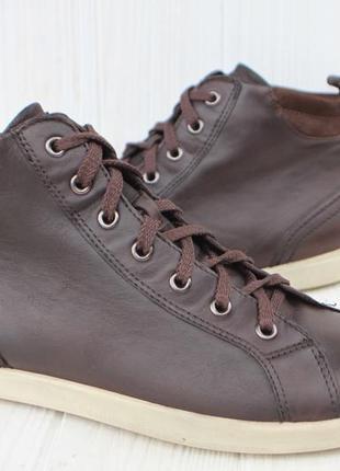 Кеды ecco кожа дания 41р кроссовки ботинки