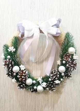 Декор, новогодний венок / декор, новорічний вінок