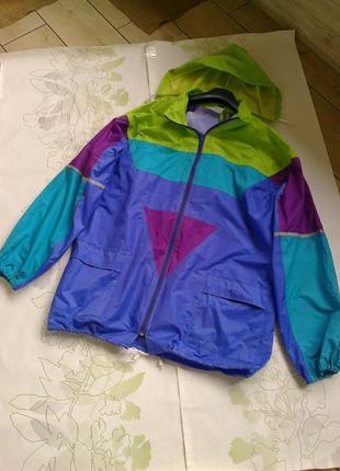 Ветровка дождевик в ретро,винтажном стиле, большой размер
