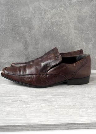 """Брендовые классические кожаные мужские туфли """"next"""". размер uk10/ eur44."""
