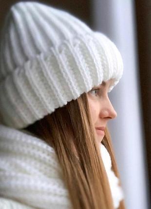 Теплые шапки крупной вязки, много цветов!