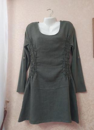 Платье лен.