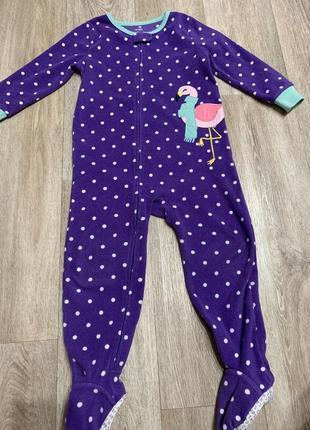 Флисовый человечек пижама слип