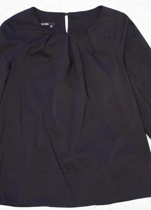 Стильная черная натуральная брендовая блуза marc aurel оригинал