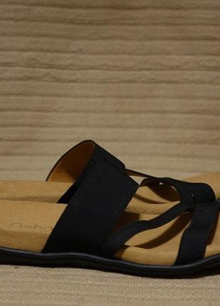 Отменные комбинированные черные фирменные шлепанцы gabor best fitting германия 39 р.