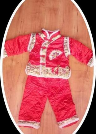 Карнавальный костюм детский санта клаус дед мороз