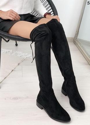Женские демисезонные сапоги - ботфорты 5397