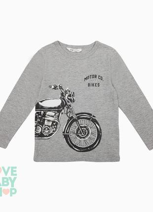 Кофта лонгслів з мотоциклом трикотаж нм кофточка для мальчика h&m