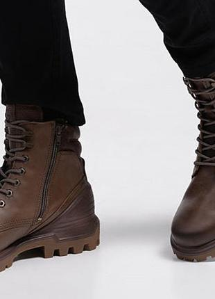 Кожаные ботинки мужские экко ecco tred tray оригинал р.41 новые индонезия