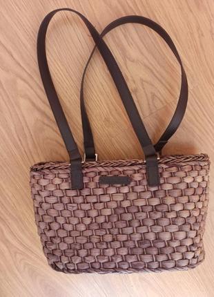 Плетеная соломеная сумка сумочка