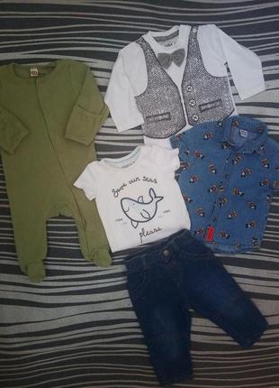Продам модный комплект на малыша 3-6мес.😎