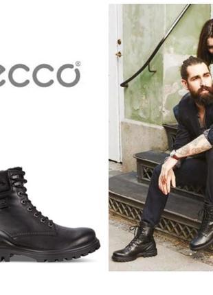 Кожаные ботинки мужские экко ecco tred tray оригинал р.45 новые индонезия