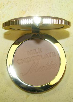 Бронзер too faced chocolate soleil long-wear matte bronzer, оригинал