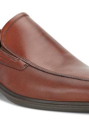 Туфли слипоны ecco johannesburg (дания)! натуральная кожа! р.45/30,5см
