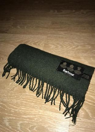 Брендовый шарф barbour оригинал