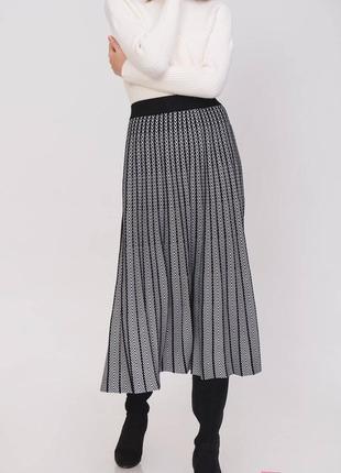 Шерстяная юбка плиссе