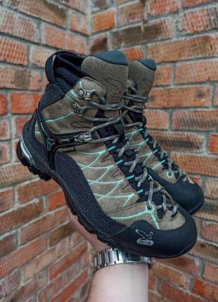 Ботинки трекинговые salewa ws alp trainer mid gtx размер 37 (24 см.)