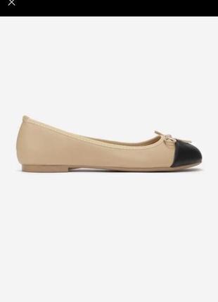 Балетки туфли в стиле известного бренда