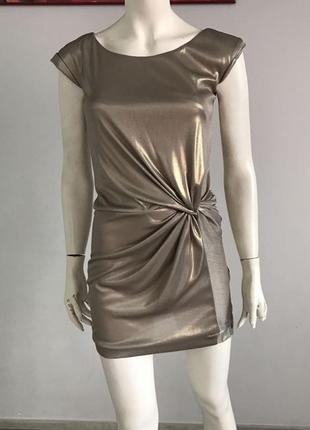 Cynthia steffe нарядное платье  металик размер 42-44