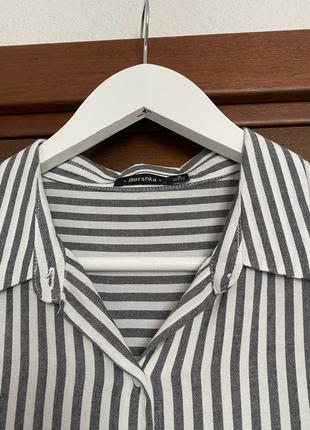 Оверсайз рубашка, блуза bershka