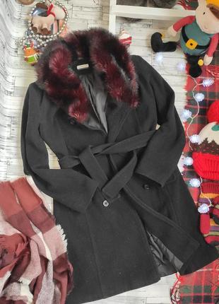 Пальто демисезонное шерстяное тёплое clockhouse