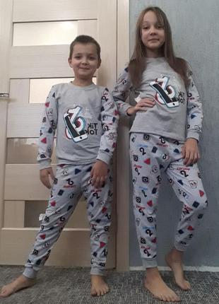 Пижама детская тёплая тик ток
