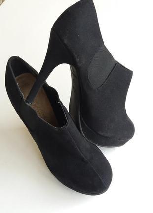 Замшевые ботильоны gorgeous ботинки распродажа