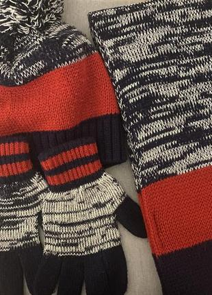 Зимний комплект lc waikiki шапка, шарф, перчатки 9-11 лет