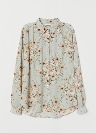 Шикарная блузка блуза в цветочный принт рубашка