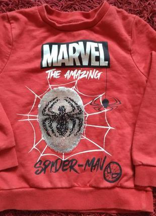 Свитшот с героем человек-паук,спайдермен