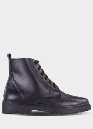Кожаные оригинальные ботинки, зима