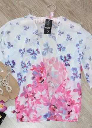 Шикарное, шифоновое, новое кимоно-накидка