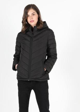 Шикарная дутая куртка с капюшоном осень еврозима m/l/xl голландия