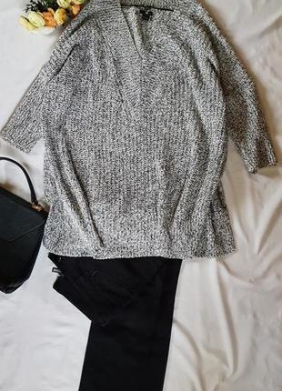 Туника свитер реглан джемпер длинный