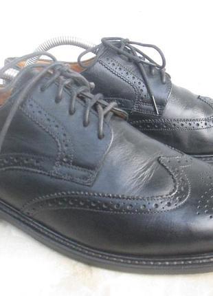 """Кожаные туфли броги """" borelli """". 41 р. ( 27 см ). италия."""