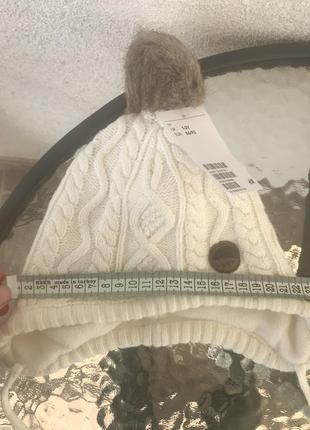 Нова зимня шапочка з набора h&m розмір 1-2 рочки