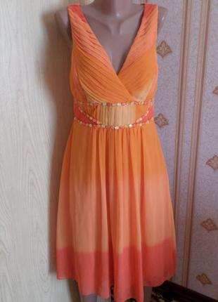 Яркое платье, новое, с биркой