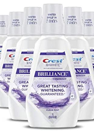 Ополаскиватель crest 3d white brilliance alcohol free white whitening